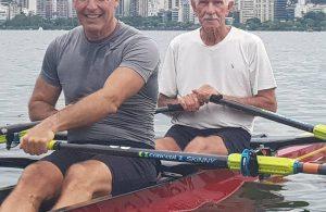 Aos 84 anos, Manoel de Carvalho é o remador mais velho em atividade no estado