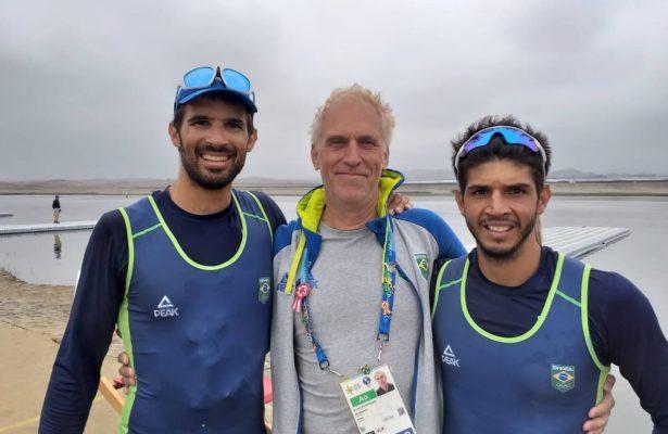 Brasil bate na trave por só 68 centésimos, e irmãos do remo ficam com prata no Pan de Lima